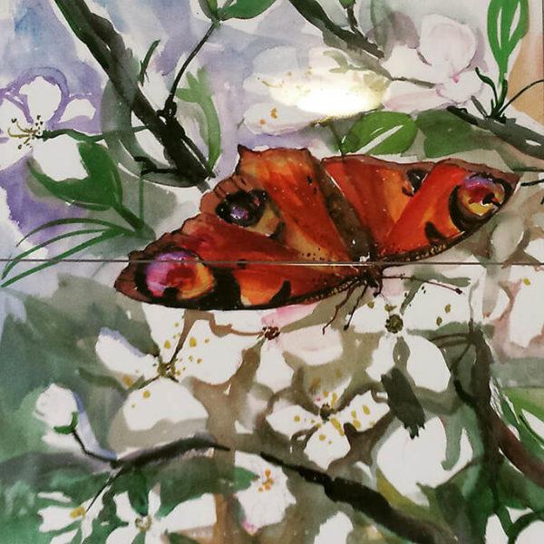 Konstkakel fjäril