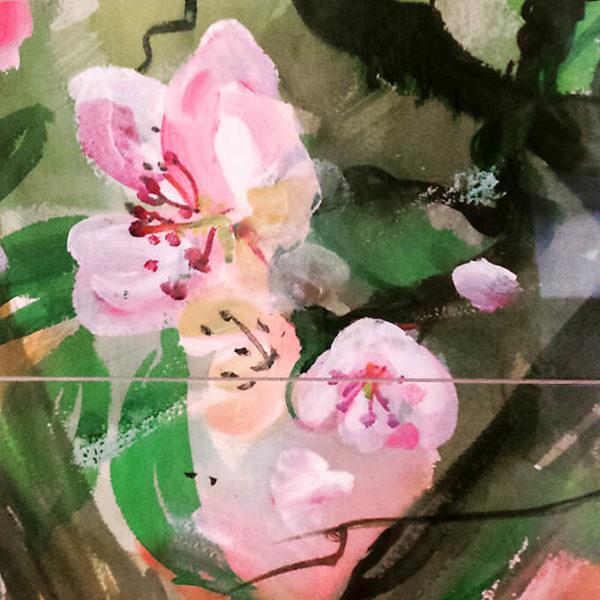 Konstkakel rosa blomma